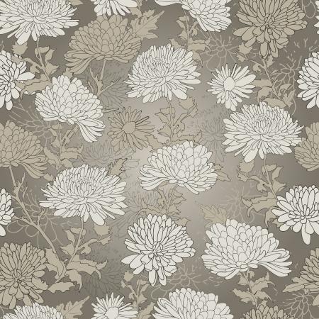 꽃 패턴입니다. 국화와 배경입니다. 벡터 일러스트 레이 션 일러스트