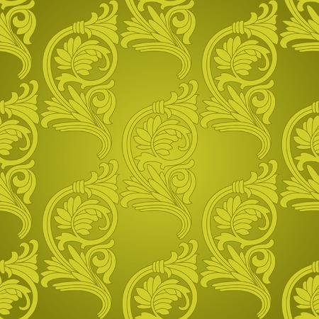 Damask vintage floral seamless pattern background, vector illustration  Vector
