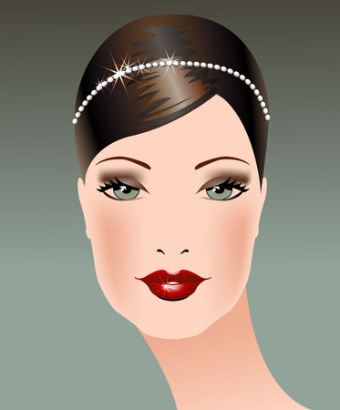 Female background  Portrait of young woman  Vector illustration