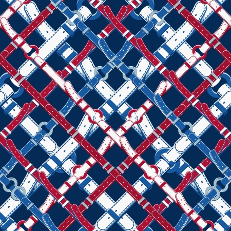 Seamless background pattern. Will tile endlessly. Pattern in nautical style with belts. Vector illustration 矢量图像