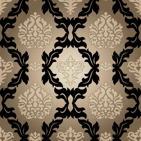 Seamless pattern background.Damask wallpaper. Vector illustration Illustration