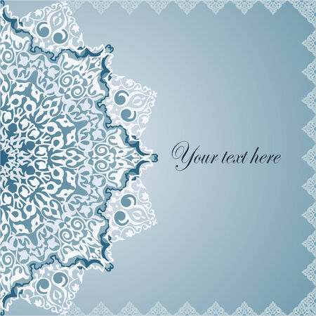 Vintage Background Traditional Ottoman motifs.  Vector