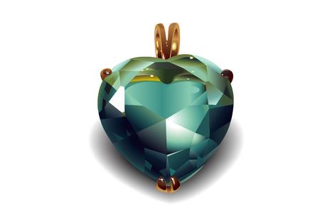 Shiny valentines diamond hearts  Vector Vector