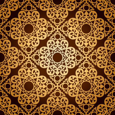 Seamless pattern background  Damask wallpaper
