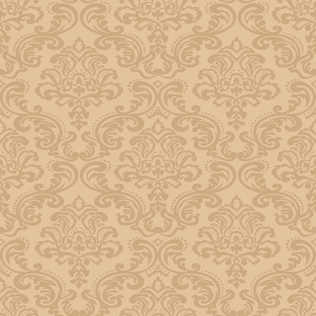 Seamless pattern background  Damask wallpaper  Vector illustration Çizim
