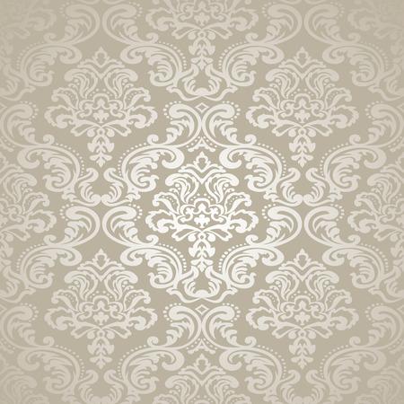 Seamless pattern background  Damask wallpaper