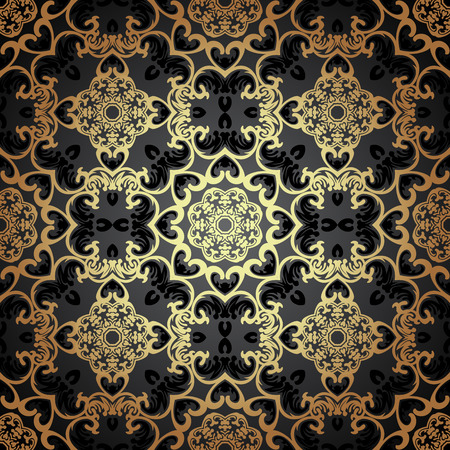 seamless pattern in Victorian style.    Ilustração