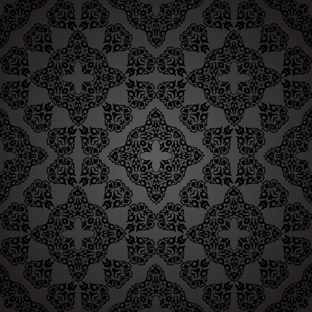 seamless pattern in Victorian style. Vector