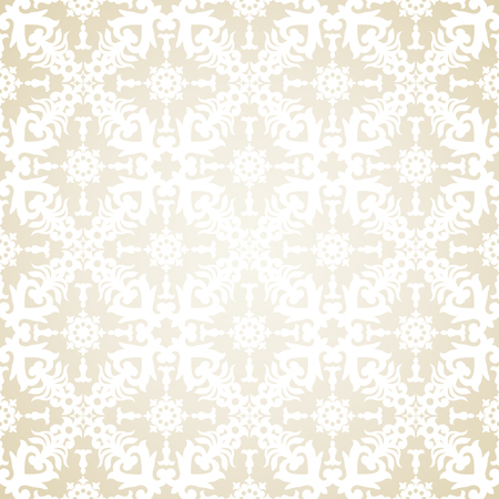 victorian wallpaper: Vector seamless pattern in Victorian style. Element for design. Ornamental backdrop. Lace tracery background. Ornate floral decor for wallpaper. Endless texture. Contrast pattern fill.