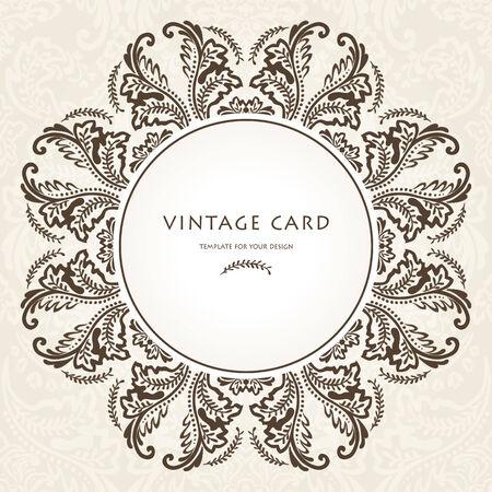 Vintage Floral Frame.Vector illustration Vector