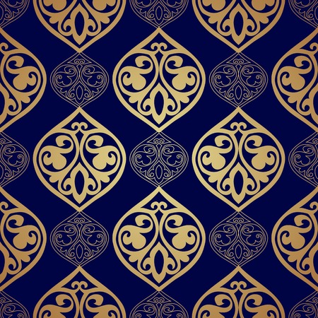 Luxury damask seamless motif .  Illustration