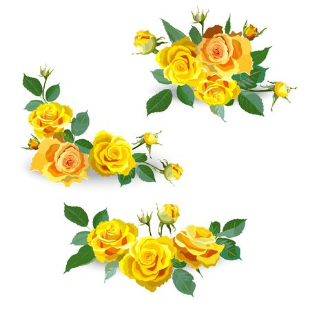 22 078 Yellow Rose Stock Vector Illustration And Royalty Free Yellow Rose Clipart
