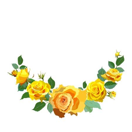 Fond floral avec des roses jaunes Banque d'images - 38079004