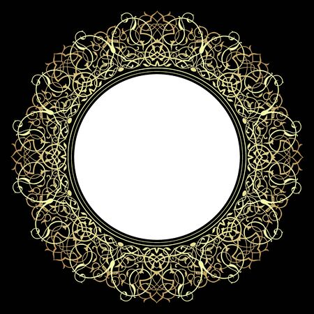 Decorative ornate frame in Victorian style.