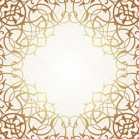 garland border: Vector ornate seamless border in Eastern style.