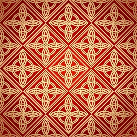 celtic background: Seamless patterns in arabian style.Geometric textures. Vector illustration Illustration