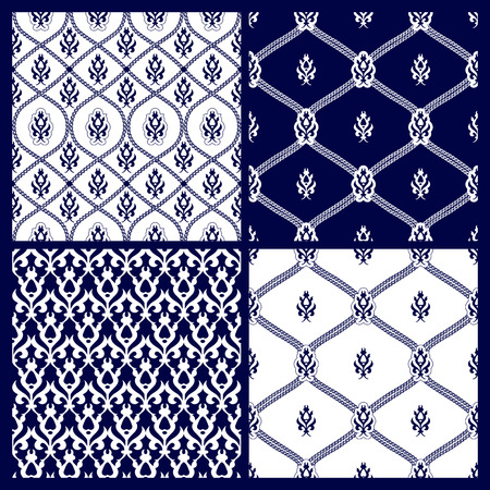 Transparente avec motif oriental. Fond coloré patchwork. Ensemble de modèle avec des ornements en filigrane. Vector illustration. Vecteurs