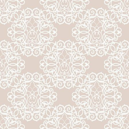 delicate arabic motif: Vintage seamless pattern with lacy ornament. It can be used for wallpaper, pattern fills, web page background, surface textures. Illustration