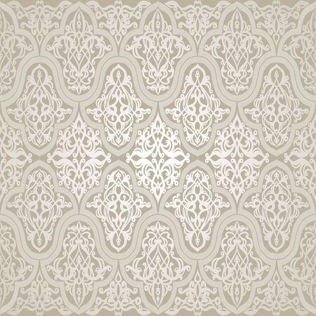 Pattern with floral motifs. Victorian background. Damask pattern.Vector illustration Vector Illustration