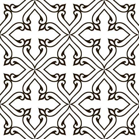 brocade: Pattern with floral motifs.  Victorian background. Damask pattern.Vector illustration