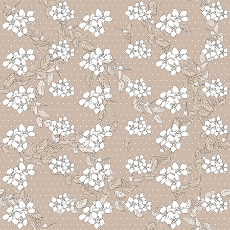 Seamless pattern floral background. Forget me not flowers. 스톡 콘텐츠