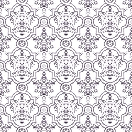 Seamless pattern background. Damask wallpaper. Vector illustration Иллюстрация