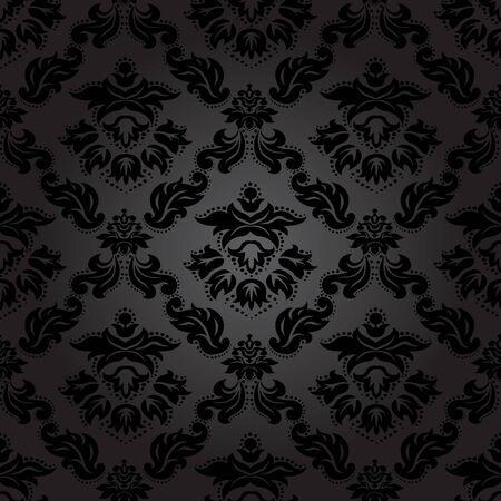 Seamless pattern background. Damask wallpaper. Vector illustration Vettoriali
