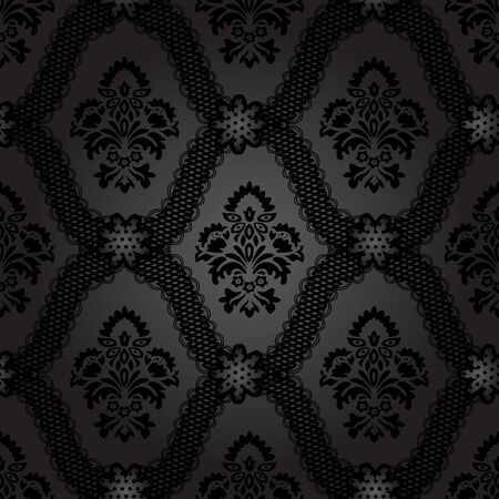 Seamless pattern background. Damask wallpaper. Vector illustration