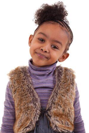 innocent: cute african american girl smiling