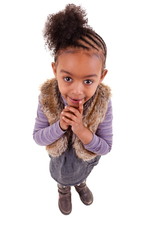 cute little african american girl  looking up Stock Photo - 9085865