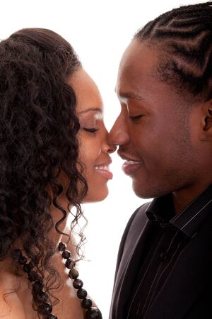 parejas enamoradas: Pareja amorosa mirando mutuamente