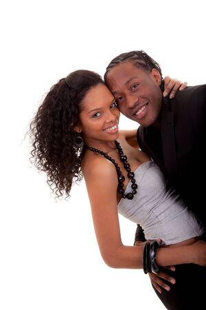 couple amoureux: Couple affectueux jouant