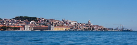 Panoramic view of old Lisbon in Portugal photo