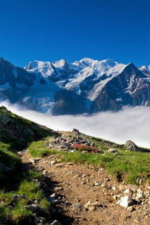 A beautiful view of the austrian alps photo