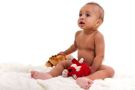 Adorable African American Boy  smiling Stock Photo - 9255432