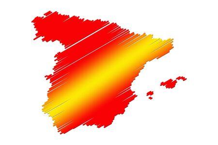 Spain flag map photo