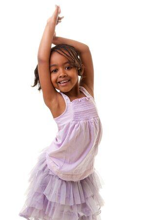 ���african american���: Cute african american girl smiling