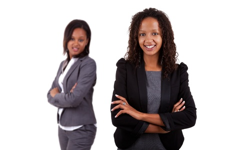 Smiling african american business woman, Isolated over white background Stock Photo - 10571186