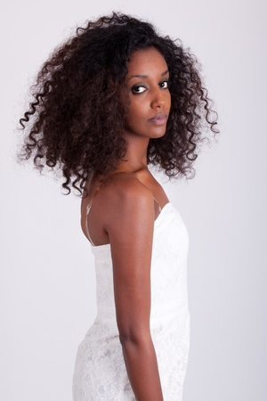 american sexy: Портрет молодой красивый афро-американских женщин