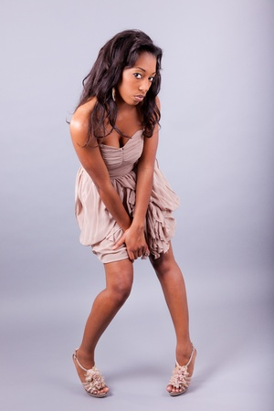 Young beautiful African woman posing photo