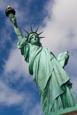 statue of liberty: Front view of the Statue of Liberty in New York City