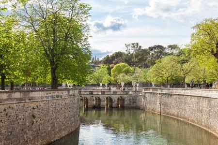 fontaine: Les Jardin de la fontaine  - Fountain garden in Nimes, in France
