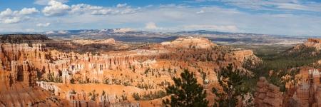 bryce: Paronamic view of canyon in Utah  - USA