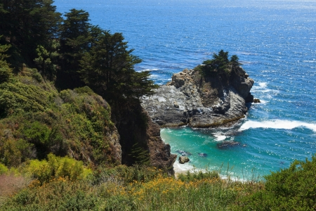 Pacific coastline in California, USA  - Highway one photo