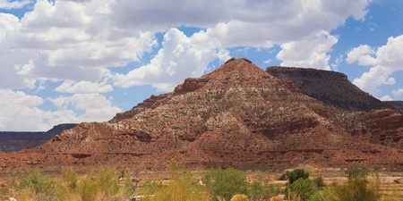 Beautiful desertic landscape of utah in the USA photo