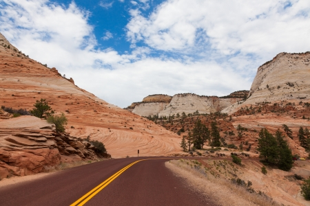 Road through in Utah, USA photo