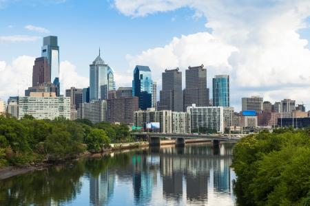 philadelphia: Skyline view of Philadelphia, Pennsylvania  - USA Stock Photo