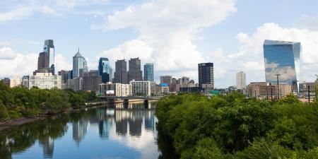 필라델피아: 필라델피아, 펜실베이니아의 파노라마 스카이 라인보기 - 미국