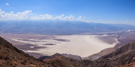 arid climate: Panoramic view of the Death Valley  from dante
