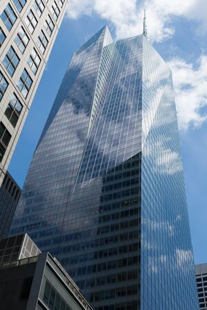 sky scrapers: Manhattan skycraper, New York - USA